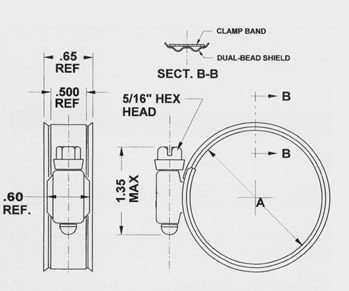 Murray Dual Bead Hose Clamp Diagram