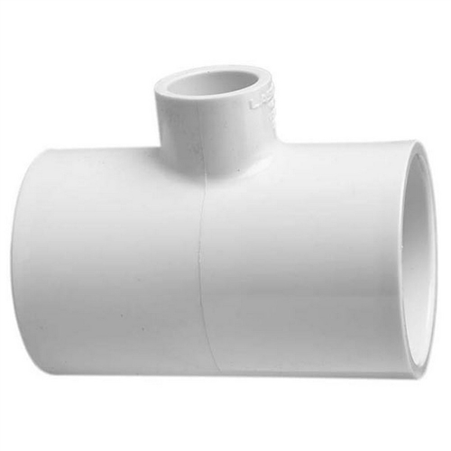 Reducing slip tee fitting for schedule pvc pipe