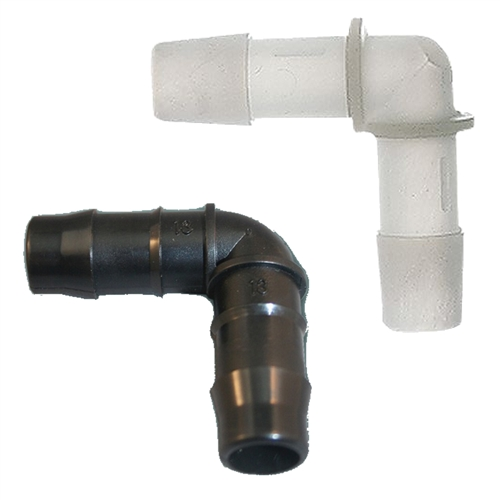 The Vinyl Tubing Elbow Fitting Have Barbed Ends For
