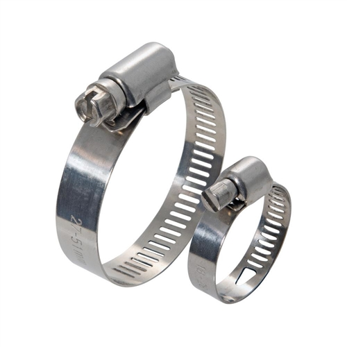This worm drive clamp is a series stainless steel