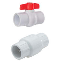 PVC Pipe Check and Ball Valves