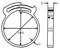 Ratcheting Clamp Dimensions